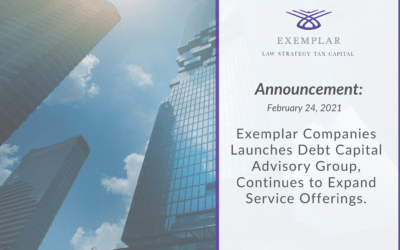 Exemplar Companies Launches Debt Capital Advisory Group, Continues to Expand Service Offerings