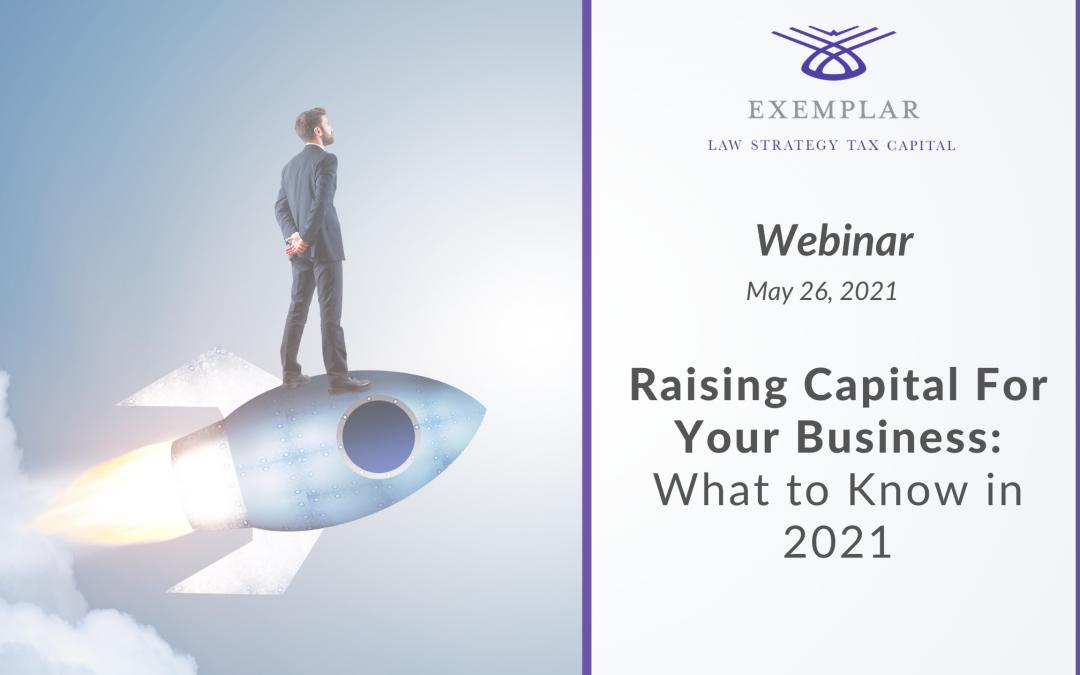 Webinar: Raising Capital For Your Business